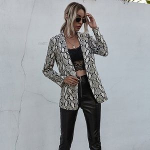 Tabi snakeskin zip up blazer